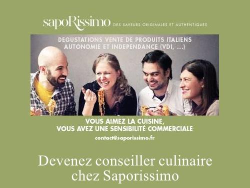 Devenez conseiller culinaire chez Saporissimo