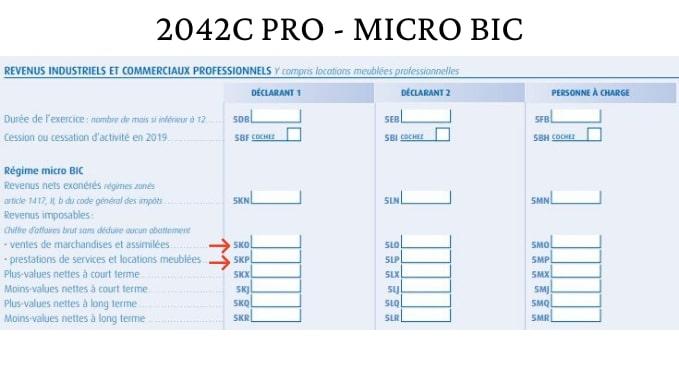 Micro BIC - IMPÔTS VDI acheteurs-revendeurs