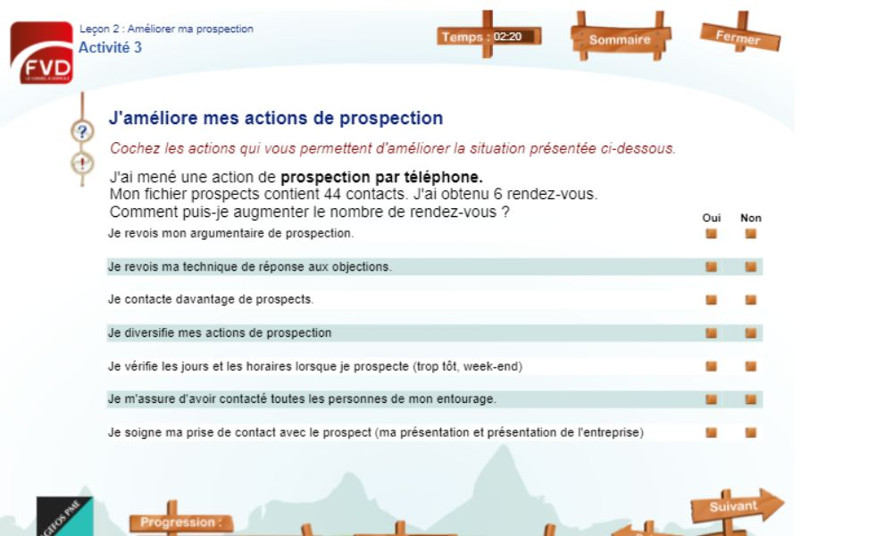 Vente Directe Académie - Leçon